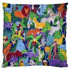 Animated Safari Animals Background Large Cushion Case (One Side)