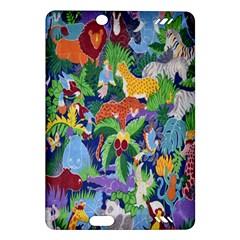 Animated Safari Animals Background Amazon Kindle Fire HD (2013) Hardshell Case