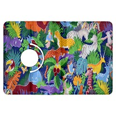 Animated Safari Animals Background Kindle Fire Hdx Flip 360 Case