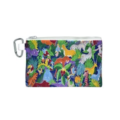 Animated Safari Animals Background Canvas Cosmetic Bag (s)