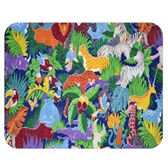 Animated Safari Animals Background Double Sided Flano Blanket (Medium)