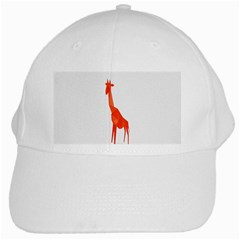Animal Giraffe Orange White Cap