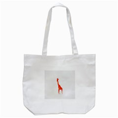 Animal Giraffe Orange Tote Bag (white)