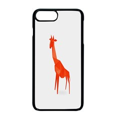 Animal Giraffe Orange Apple Iphone 7 Plus Seamless Case (black)