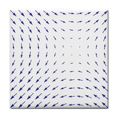 Arrows Blue Tile Coasters