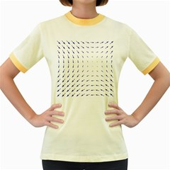Arrows Blue Women s Fitted Ringer T Shirts