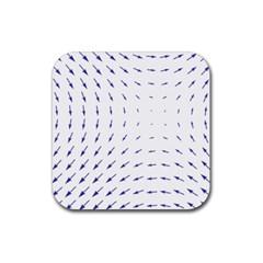 Arrows Blue Rubber Coaster (square)