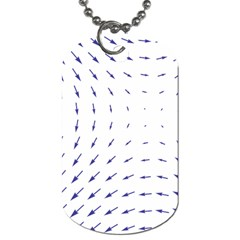 Arrows Blue Dog Tag (Two Sides)