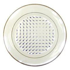 Arrows Blue Porcelain Plates