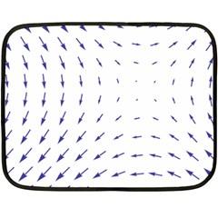 Arrows Blue Fleece Blanket (mini)