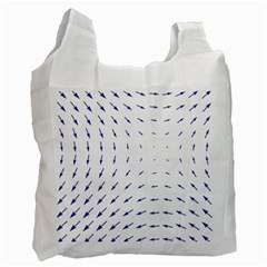 Arrows Blue Recycle Bag (two Side)