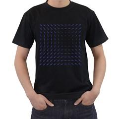 Arrows Blue Men s T Shirt (black)