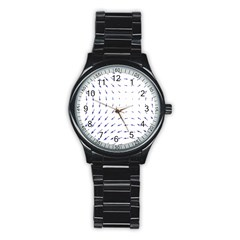 Arrows Blue Stainless Steel Round Watch