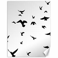 Bird Fly Black Canvas 18  X 24