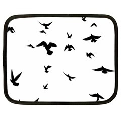 Bird Fly Black Netbook Case (xl)