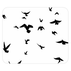 Bird Fly Black Double Sided Flano Blanket (small)