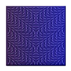 Calm Wave Blue Flag Tile Coasters