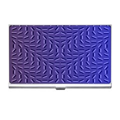 Calm Wave Blue Flag Business Card Holders