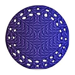 Calm Wave Blue Flag Ornament (round Filigree)