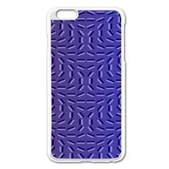 Calm Wave Blue Flag Apple Iphone 6 Plus/6s Plus Enamel White Case