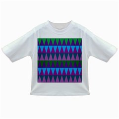 Blue Greens Aqua Purple Green Blue Plums Long Triangle Geometric Tribal Infant/toddler T Shirts