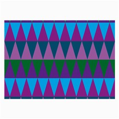 Blue Greens Aqua Purple Green Blue Plums Long Triangle Geometric Tribal Large Glasses Cloth