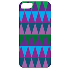 Blue Greens Aqua Purple Green Blue Plums Long Triangle Geometric Tribal Apple Iphone 5 Classic Hardshell Case