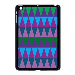 Blue Greens Aqua Purple Green Blue Plums Long Triangle Geometric Tribal Apple Ipad Mini Case (black)