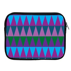 Blue Greens Aqua Purple Green Blue Plums Long Triangle Geometric Tribal Apple Ipad 2/3/4 Zipper Cases