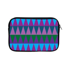 Blue Greens Aqua Purple Green Blue Plums Long Triangle Geometric Tribal Apple Ipad Mini Zipper Cases