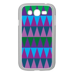 Blue Greens Aqua Purple Green Blue Plums Long Triangle Geometric Tribal Samsung Galaxy Grand Duos I9082 Case (white)