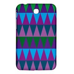 Blue Greens Aqua Purple Green Blue Plums Long Triangle Geometric Tribal Samsung Galaxy Tab 3 (7 ) P3200 Hardshell Case