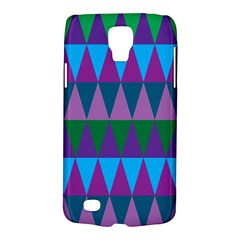 Blue Greens Aqua Purple Green Blue Plums Long Triangle Geometric Tribal Galaxy S4 Active
