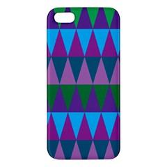 Blue Greens Aqua Purple Green Blue Plums Long Triangle Geometric Tribal Iphone 5s/ Se Premium Hardshell Case