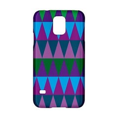 Blue Greens Aqua Purple Green Blue Plums Long Triangle Geometric Tribal Samsung Galaxy S5 Hardshell Case