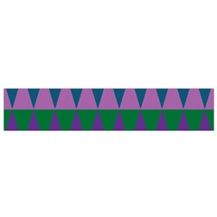 Blue Greens Aqua Purple Green Blue Plums Long Triangle Geometric Tribal Flano Scarf (small)