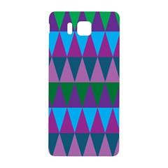 Blue Greens Aqua Purple Green Blue Plums Long Triangle Geometric Tribal Samsung Galaxy Alpha Hardshell Back Case