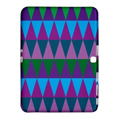 Blue Greens Aqua Purple Green Blue Plums Long Triangle Geometric Tribal Samsung Galaxy Tab 4 (10 1 ) Hardshell Case