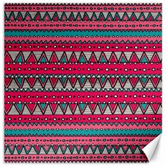 Aztec Geometric Red Chevron Wove Fabric Canvas 16  X 16