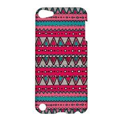 Aztec Geometric Red Chevron Wove Fabric Apple Ipod Touch 5 Hardshell Case
