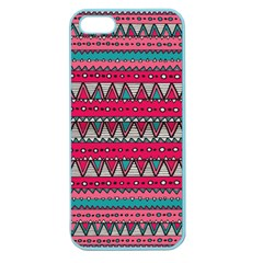 Aztec Geometric Red Chevron Wove Fabric Apple Seamless Iphone 5 Case (color)