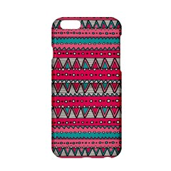 Aztec Geometric Red Chevron Wove Fabric Apple Iphone 6/6s Hardshell Case