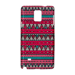 Aztec Geometric Red Chevron Wove Fabric Samsung Galaxy Note 4 Hardshell Case