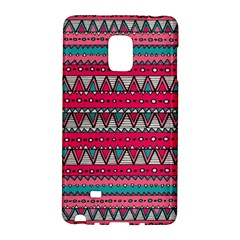 Aztec Geometric Red Chevron Wove Fabric Galaxy Note Edge