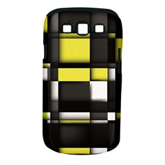 Color Geometry Shapes Plaid Yellow Black Samsung Galaxy S Iii Classic Hardshell Case (pc+silicone)