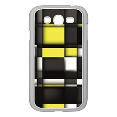 Color Geometry Shapes Plaid Yellow Black Samsung Galaxy Grand Duos I9082 Case (white)