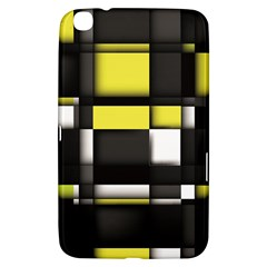 Color Geometry Shapes Plaid Yellow Black Samsung Galaxy Tab 3 (8 ) T3100 Hardshell Case
