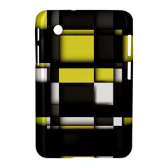 Color Geometry Shapes Plaid Yellow Black Samsung Galaxy Tab 2 (7 ) P3100 Hardshell Case