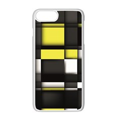 Color Geometry Shapes Plaid Yellow Black Apple Iphone 7 Plus White Seamless Case