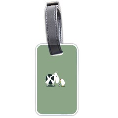 Cow Chicken Eggs Breeding Mixing Dominance Grey Animals Luggage Tags (one Side)